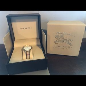 Super cute, gold faced Burberry watch